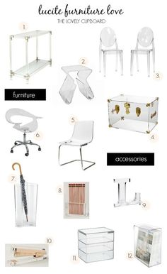 Lucite Furniture Roundup |The Lovely Cupboard