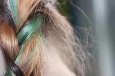 dark colors, green, blue, brown, streaks