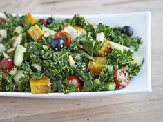 Massaged Kale Salad with Golden Beets and Asparagus Vegan, Toddler Approved, Tutorial Video!