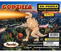 Puzzled Godzilla Wooden 3D Puzzle Construction Kit