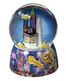 Times Square Rotating Water Globe