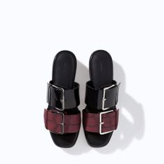 ZARA - NEW THIS WEEK - TRACK VAMP WITH BUCKLES