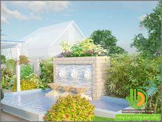 thiết kế thác nước sân vườn