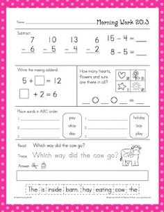 Worksheets Daily Morning Work 1st Grade daily learning for first graders freebie letter of the day providing your students with a meaningful task will be snap this morning work take attendance speak par