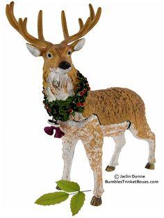 Nib male elk swarovski crystal stag animal figurine statue - Swarovski stag figurine ...