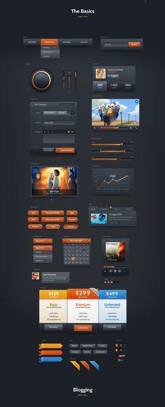 Dark Velvet UI Kit by webdesigngeek on DeviantArt