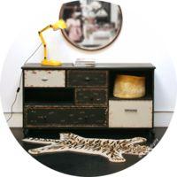 Buffet haut style scandinave couleur bois et blanc SWEDEN | Idées ...