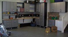 Contemporary Garage System In Black | California Closets