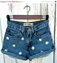 Levis high waisted denim shorts Hippie shorts by BaileyRayDenim