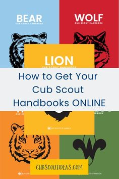 It's a great idea to have an electronic copy of the Cub Scout handbook! Whether you have a Tiger, a Wolf, a Bear, a Webelos, or an Arrow of Light, you'll be able to check their requirements from your phone or tablet! #CubScouts #CubScout #Scouting #Webelos #ArrowOfLight Cub Scout Law, Cub Scouts Wolf, Tiger Scouts, Scout Mom, Lion Book, Wolf Book, Cub Scout Activities, Activities For Boys, Scout Books