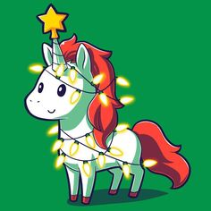A Unicorny Christmas T-Shirt TeeTurtle