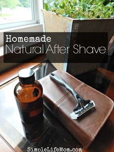 Natural Homemade After Shave Recipe with all organic ingredients. Witch hazel, aloe vera, and essential oils will soothe irritated skin and smells great.