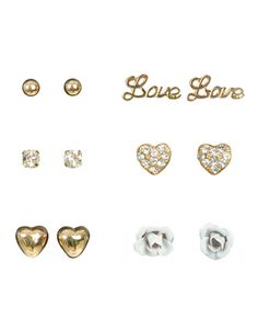 I just got my cartlidge pierced Saturday and me and my BFF were talking about getting love earrings for it.. Love it;)