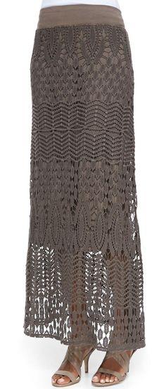 Cecilia Crochet Skirt by XCVI at Neiman Marcus.