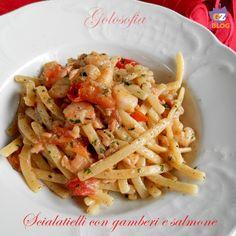 Scialatielli+con+gamberi+e+salmone,+ricetta+gustosa