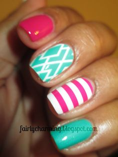 Pink and Teal; yes please!