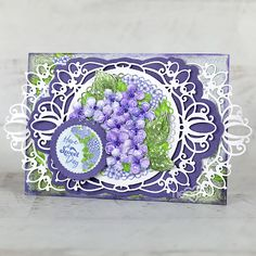 Heartfelt Creations - Have a Sweet Day Heartfelt Creations Cards, Purple Cards, Punch Art, Owl Punch, Flower Center, Sweetest Day, Stampin Up Christmas, Penny Black, Graphic 45