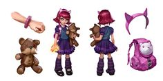 View an image titled 'Annie Concept Art' in our League of Legends art gallery featuring official character designs, concept art, and promo pictures. Annie League Of Legends, League Of Legends Characters, Game Character Design, Character Art, Character Reference, Cosplay, Anime Outfits, Game Art, My Drawings