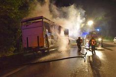 Lkw mit Dämmplatten sorgt für Flammeninferno auf A2 - Heute.at