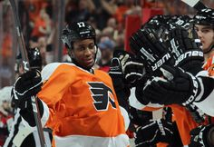 Wayne Simmonds after his SO goal on 3/22/2012 against the Caps