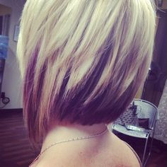 Love the hair color.. Brown on the bottom and blonde on the top.