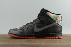 0ea50d22e373 2018 UK Trainers Nike Dunk High Premium Sb Gasparilla Sneakers 313171-028  Black Noir Blk-Chilling Rd-Mtllc Slvr Youth Big Boys Shoes
