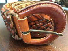 Leather braided boho belt brown cosplay steampunk