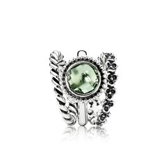 Wear a beautiful green statement ring for St. Patrick's Day. #PANDORA #PANDORAring