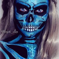 #makeup #mua #bodyart #bodypaint #facepaint #skull #skullmakeup #mykie_ #jordanhanz #dehsonae #luvekat #leighdicksonartistry #sugarpill #mehronmakeup #sedonalace #thewalkingsugarskulls