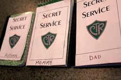 """Great FHE idea- enroll your family in the Secret Service and hand out notebooks to record your secret """"missions"""""""