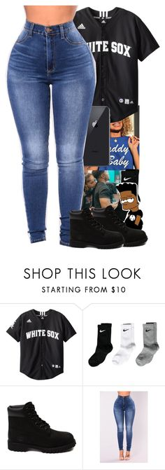 """""""Black on black"""" by miniboogie ❤ liked on Polyvore featuring NIKE and Timberland"""
