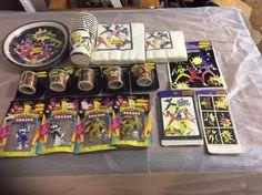 Vintage 1994 Mighty Morphin Power Rangers party items #Hallmark