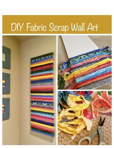 DIY simple wall art with fabric scraps. It has been a long time since I have done any crafts other than jewelry! This upcycled fabric wall art is quick and easy to do. You can do so many var… diywalldecor Diy Art, Diy Wall Art, Diy Wall Decor, Wall Décor, Bedroom Decor, Fabric Wall Decor, Fabric Art, Fabric Material, Cotton Fabric