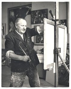 Citation: Hans Hofmann at work in his studio, 1952 / Kay Bell Reynal, photographer. [Photographs of artists taken by Kay Bell Reynal], Archives of American Art, Smithsonian Institution.