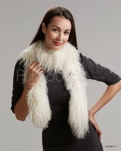 Shop FurSource for the best selection of Boa Fur Scarves. Buy the Long Mongolian / Tibetan Lamb Fur Scarf - Ivory by FRR with fast same day shipping. Hooded Scarf, Collar And Cuff, Fur Trim, Womens Scarves, Lamb, Fur Coat, Ivory, Clothes, Fur Scarves