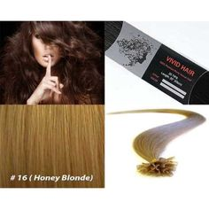 """Vivid Hair 200 Strands Straight Pre Bonded U Nail Tip Fusion Remy Human Hair Extensions 22"""" Inches  #PersonalCare"""