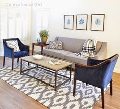 super Ideas for small living room furniture placement side tables Navy Living Rooms, Living Room White, Living Room Colors, Living Room Paint, New Living Room, Living Room Designs, Living Room Decor, Small Living Room Chairs, Tiny Living