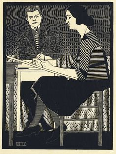 In Mesquita's Classroom, 1920-1921, M. C. Escher. Dutch (1898 - 1972)