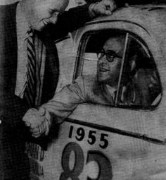 1955 RedEx Trial: Carl Kennedy is farewelled at the start in his Peugeot 203 and went on to finish Citroen Ds, Peugeot, Rally, Car, Photos, Automobile, Pictures, Autos, Cars