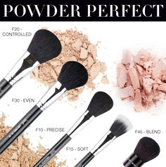 Get the breakdown of all five of our powder brushes and find out which ones would best fit your makeup needs! http://www.sigmabeautytalk.com/2012/12/03/powder-perfect/