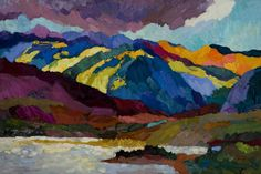 Larisa Aukon at Mirada Fine Art, 'Continental Divide,' Original Oil on Panel, x Positive Kunst, Positive Art, Landscape Artwork, Abstract Landscape, Abstract Art, Abstract Paintings, Southwestern Art, Mountain Paintings, Color Of Life