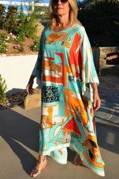 Kaftan Maxi Long Lounge Wear Gown New women Fancy Party Dress Hippie Boho Caftan Kimono Sleeve Cover up Summer Dress cruise resort wear