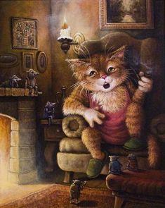 Арт котики от Маскаева Александра. Он занимается авторской живописью, и пишет сказки для детей и взрослых.   Пишет sitellaВ преддверии Рождества…