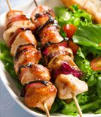 Mango Chicken Skewers Recipe. Great for on the grill and entertaining. santofitlife.com