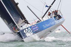 Artemis Ocean Racing  The IMOCA 60 yacht 'Artemis Ocean Racing' approaching the finish of the Artemis Challenge race during Cowes Week.  #yachts #sailing #Artemis Challenge