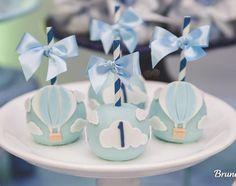 Baby Shower Balloons, Birthday Balloons, Baby Shower Cakes, Baby Boy Shower, 1st Birthday Boy Themes, Baby Birthday Cakes, Baby Party, Baby Shower Parties, Hot Air Balloon Cake