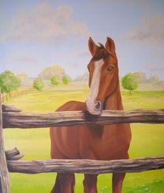 Cindy Scaife Murals - Horse Mural - detail