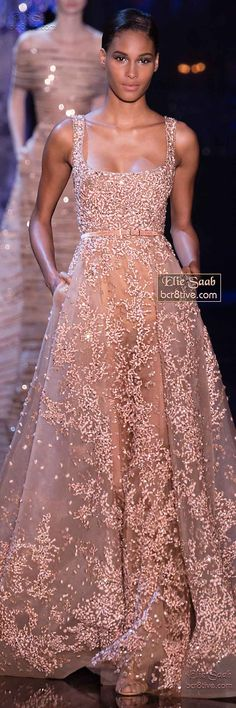 glamour new years eve from Elie Saab Fall Winter Haute Couture Elegant Dresses, Pretty Dresses, Formal Dresses, Dresses 2014, Wedding Dresses, Beautiful Gowns, Beautiful Outfits, Couture Fashion, Runway Fashion