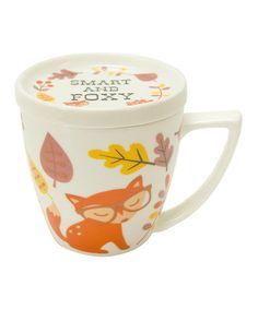 Look at this #zulilyfind! Foxy 14-Oz. Mug & Lid by Boston Warehouse #zulilyfinds
