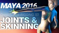 MAYA 2016 CHARACTER RIGGING TUTORIAL: JOINTS & SKINNING